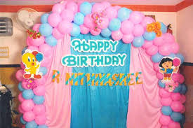 easy balloon decoration ideas for birthday party at home simple