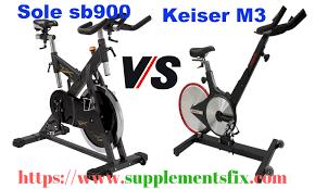 sole sb900 vs keiser m3 spin bike