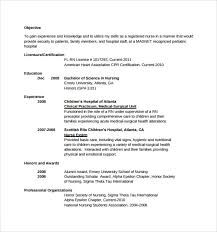 11 Sample Nurse Resumes For Free Download Sample Templates
