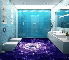 aliexpress com 3d floor rose purple cusom 3d adhesive for flooring non slip waterproof decorative vinyl flooring bathroom from reliable 3d flooring