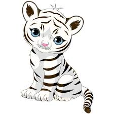 baby white tigers drawing. Beautiful White CLIPART WHITE TIGER  Royalty Free Vector Design Intended Baby White Tigers Drawing R