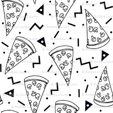 pizza party clipart black and white. Wonderful Black Pizza Party  Black And White Shapes Rad 90s Kids Triangles  Food Throughout Pizza Party Clipart Black And White L