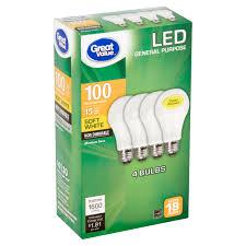 Walmart Great Value Led Light Bulbs Great Value Led 15 Watts Soft White Medium Base Bulbs 4
