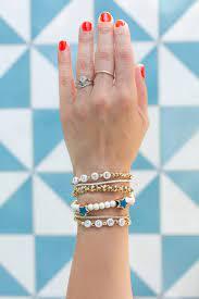 diy beaded bracelets for fourth of july