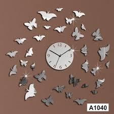 acrylic 3d diy home decor erfly decorative wall clock sticker