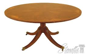 details about l28537ec wood hogan 60 round yew wood dining room table