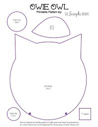 Owl Pattern Enchanting Diy Owie Owl Rice Pack Printable Pattern A Simple Sewing