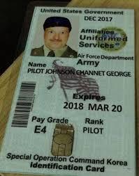 United Baseball - Passport Cards Military Bildergalerie Johnson Ausweis George States