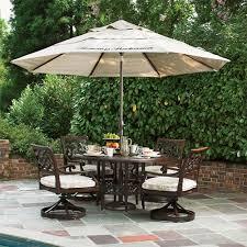4 6 person patio dining sets 9 ft umbrella