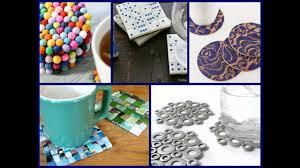 30 diy coasters decorating ideas handmade home decor easy decoration ideas for home simple ganesh decoration ideas for home