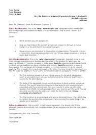 Letter Of Applications Examples Sample Letter Of Application