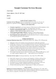 Customer Service Representative Resume Objective By Mary O Sevte