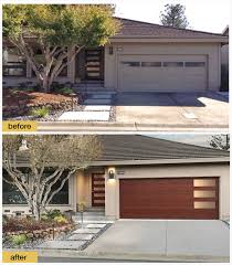 clopay faux wood garage doors. A New Front Door And Clopay Modern Steel Collection Faux Wood Garage With Windows Give Doors