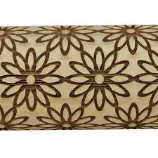 pottery avenue brings wooden corner s embossed 10 rolling pin lep 021 sunflower