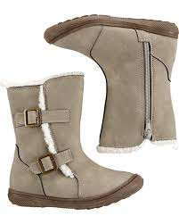 Oshkosh Taupe Sherpa Boots Carters Com