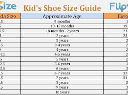 42 Declarative Printable Toddler Shoe Size Chart Kongdian