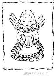Angel Christmas Coloring Page Angel With