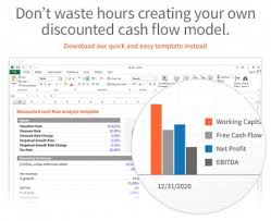 cash flow model excel dcf discounted cash flow model excel template eloquens