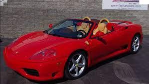 2001 Ferrari 360 Modena Spider Convertible Exotic Sports Car Youtube