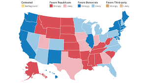 we've updated our electoral map more states move away from trump