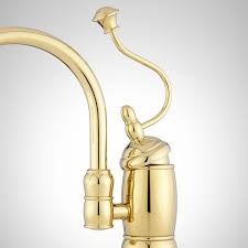 Polished Brass Kitchen Faucet Castlin Single Hole Kitchen Faucet With Side Spray Kitchen