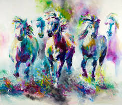 katy jade dobson chroma equus oil painting the spectrum collection
