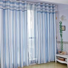 Striped Bedroom Curtains Blue Striped Curtains Bedroom Home Design Ideas
