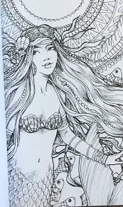 Colouring Pages Adult Coloring Pages Mermaid