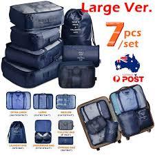 AU <b>7pcs Packing</b> Cubes Luggage Storage Organiser Travel ...