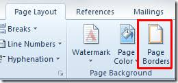 How To Insert Page Borders In Word 2010