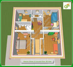 simple home designs. green passive solar house #3 section second floor 3d view, home plans simple designs e