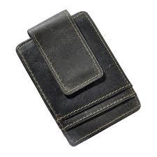 Simple Design Magnet Men Wallet Money Clip <b>Crazy Horse Leather</b> ...