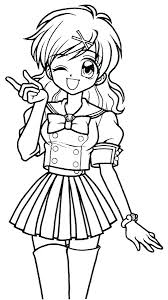 Coloring Pages For Girls Cute Anime S Wolf Girl Online Manga Games G