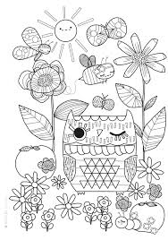 Mollie Makes Free Printable Coloring Sheet