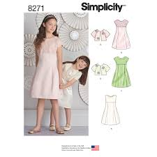 Simplicity Pattern Delectable Simplicity Simplicity Pattern 48 Child's and Girls' Dress and Jacket