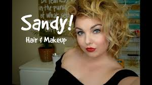 sandy from grease makeup and hair tutorial easy makeup