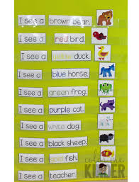 Chart Activities For Preschool Brown Bear Pocket Chart Retelling Activity And Mini Reader