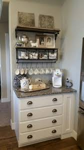The coffee grounds are collected directly under the tabletop in a gn container. 92 Coffee Bar Buffet Ideas Coffee Bar Coffee Bar Home Diy Coffee Bar