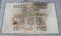 Hattie Hayes Ratliff (1896-1922) - Find A Grave Memorial