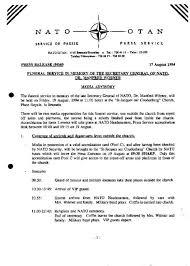 Media Advisory Media Advisory Funeral Service In Memory Of The Secretary General