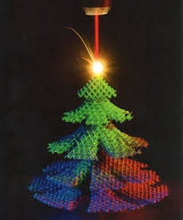 Christmas tree made using laser technology