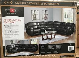 costco 1049291 pulaski leather power reclining sectional great for any living room or family