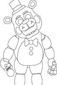 Five Nights At Freddys Coloring Pages Google Search Fnaf
