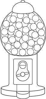 Gumball Machine Line Art Disegni Bn Disegno Del Modello