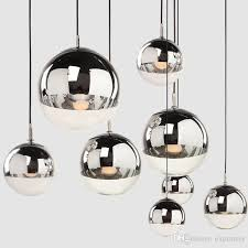 tom dixon mirror ball pendant lamp electroplating droplht led light chandelier lights indoor lamps lighting hotel living room office pendant lights ceiling