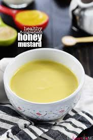 healthy honey mustard with greek