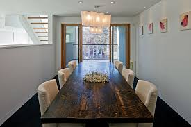 rustic counter height table dining room contemporary with balcony ceiling lighting dark