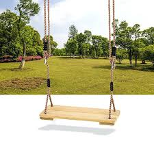 swing seat outdoor kids safety swing chair wooden tree swing seat with rope kids tze swing seat