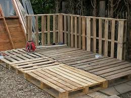 the base of our pallet shed
