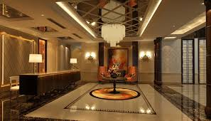 hotel lobby lighting. Beautiful Hotel Lobby Interior Design Ideas With Illuminated Lighting And Creative Ceramic Floor L